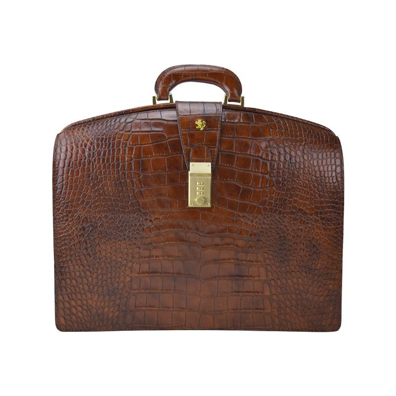"""Leather Briefcase """"Brunelleschi"""" K120-B"""