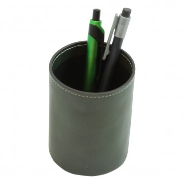 "Leather pen cup ""Warszawa"" VE"