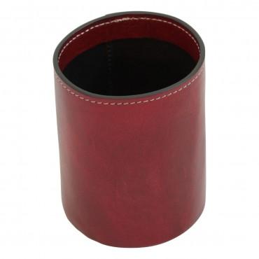 "Leather pen cup ""Warszawa"" RO"