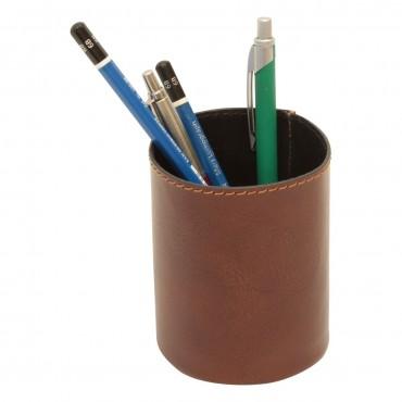 "Leather pen cup ""Warszawa"" MA"