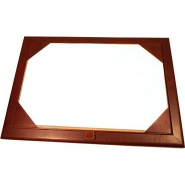 Luxurious leather desk pad