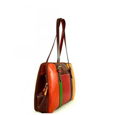 """Leather Lady bag """"Rocchette"""" Multicolor"""