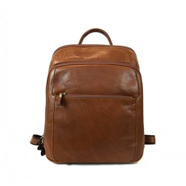 """Leather Backpack """"Trasubbie"""""""