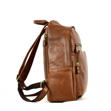 Leather man backpack...