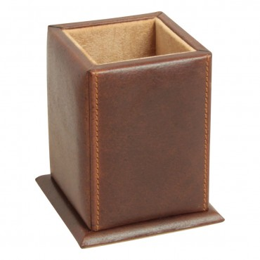 Luxurious leather pen cup...