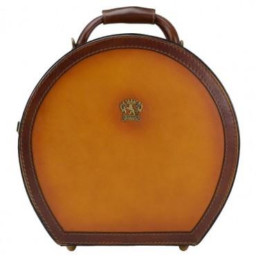 Leather Hat box, average