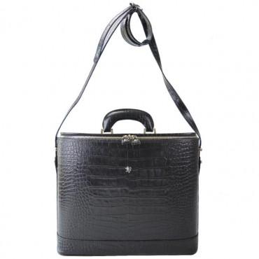 """Leather briefcase """"Raffaello"""" K116-15"""