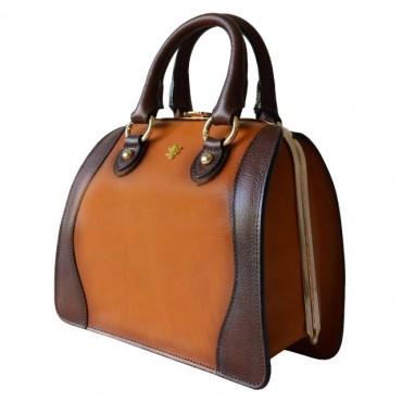 "Leather Lady bag ""Saturnia"" small"