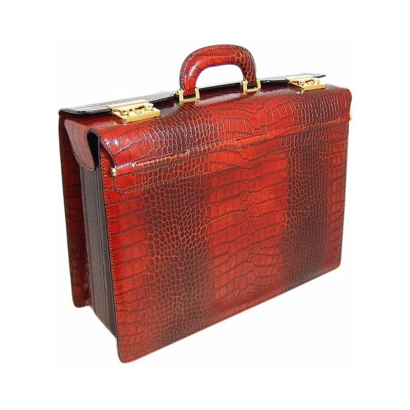 """Leather briefcase """"Lorenzo il Magnifico"""" K388"""
