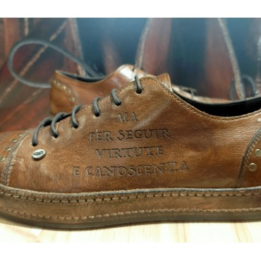 """Scarpa uomo Sneaker in pelle """"Inferno Canto XXVI"""""""