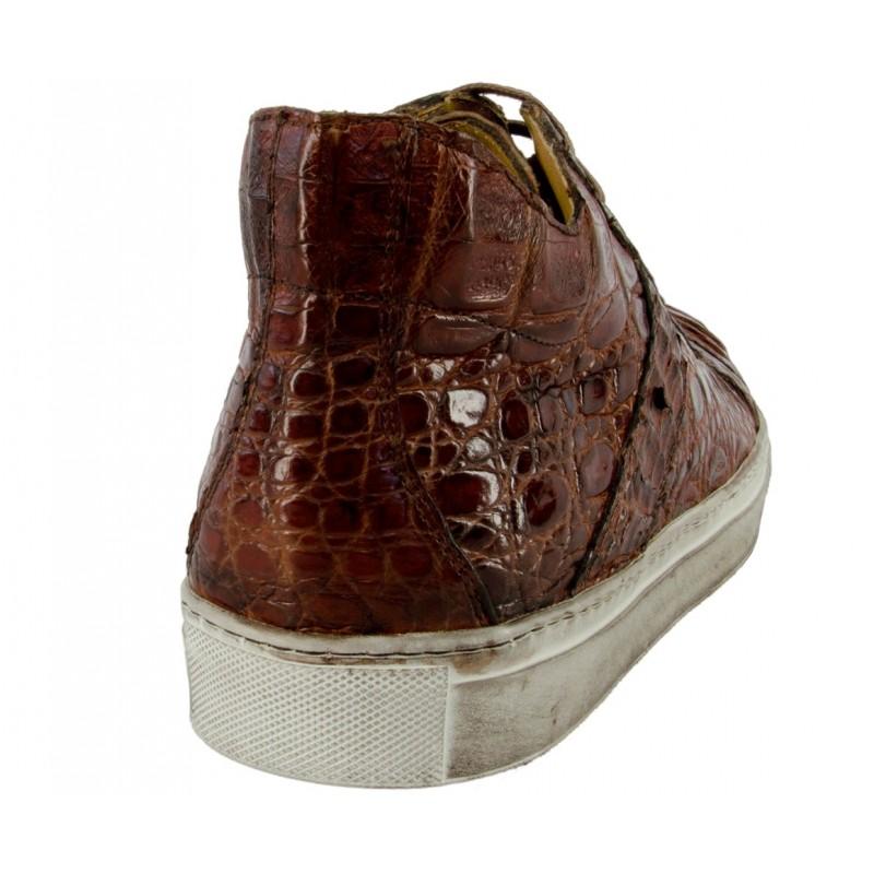 Scarpe uomo Sneakers Benso in Coccodrillo  Caiman