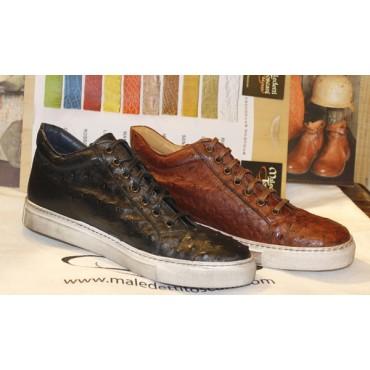 Sneakers Benso in  Struzzo