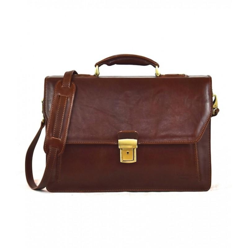 "Leather Briefcase woman ""San Donato"""
