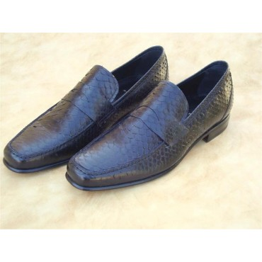 Leather Men Shoes Pithon...