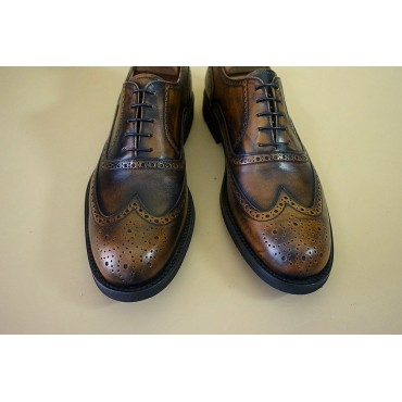 "Leather Man shoes ""Bronzino"""