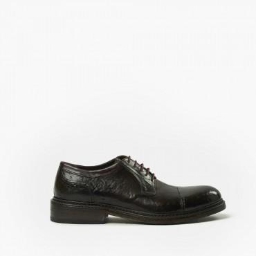 "Leather man shoes ""Derby Punta Cucita"""
