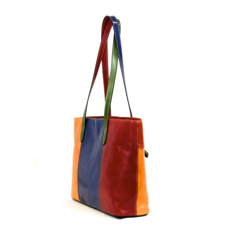 "Leather Lady bag ""Corte dei Butteri"" Multicolor"