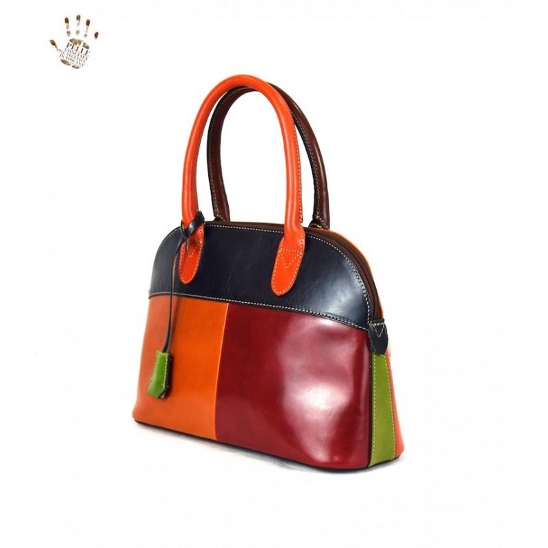 "Leather Lady bag ""Angela"" Multicolor"