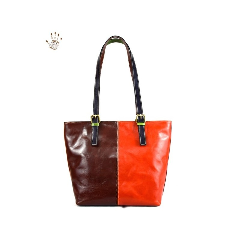 """Leather Lady bag """"Alberese"""" Multicolor"""