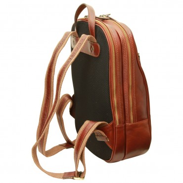 "Leather backpack ""Malbork"" B"