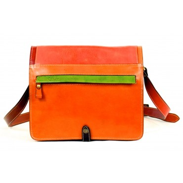 "Leather Lady bag ""Principina"" Multicolor"