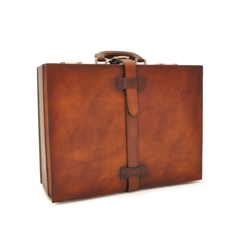 """Leather Suitcase """"Taormina"""" B244-BIS"""