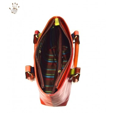 "Leather Lady bag ""Albegna"" Multicolor"