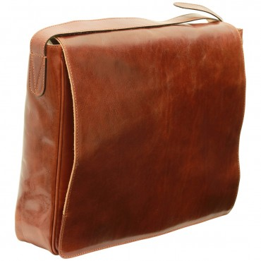 Leather Woman/Man Messenger...
