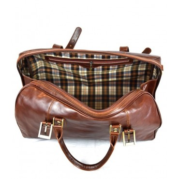 "Leather Travel bag ""Ornello"""