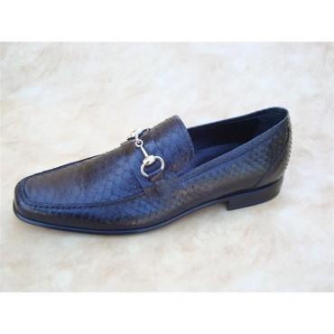 Leather Men Shoes Pithon...