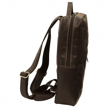 "Leather backpack ""Zamość"" BL"