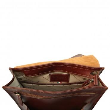 """Leather backpack """"Praga"""" B"""