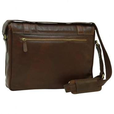 "Leather Man bag ""Włocławek"" DB"
