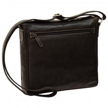 "Leather Man bag ""Katowice"" BL"