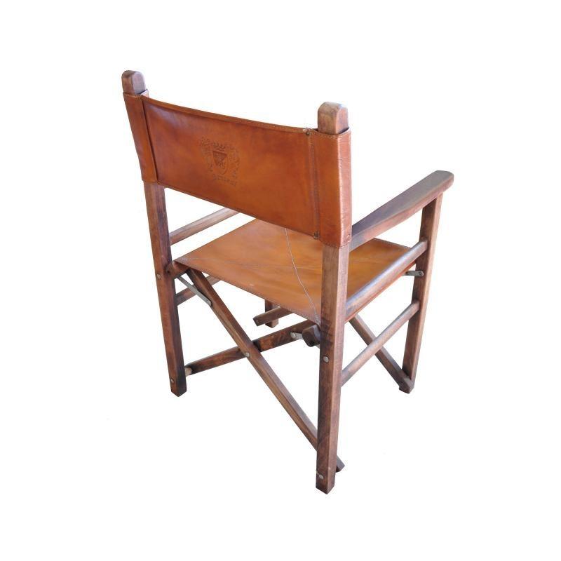 """Krzesło Reżyserskie skórzany """"Regista"""""""
