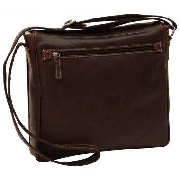 "Leather Man bag ""Katowice"" DB"