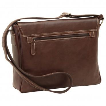 "Leather Man bag ""Kielce"" DB"