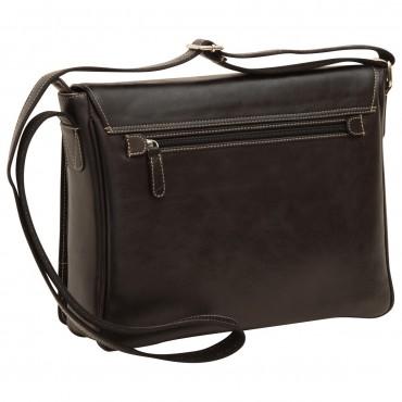 "Leather Man bag ""Kielce"" BL"