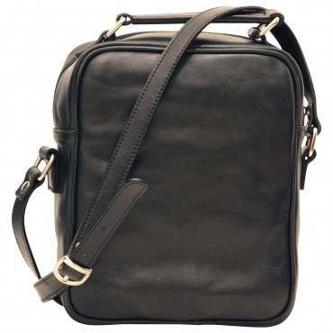 "Leather Man bag ""Wawel"" BL"