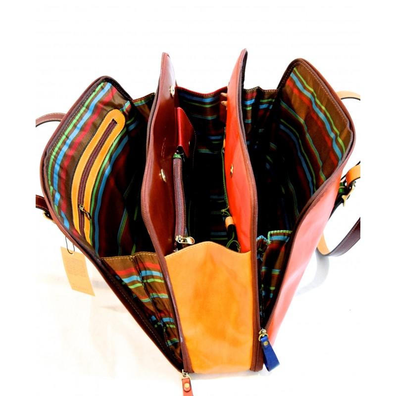 """Borsa donna in pelle """"Rocchette"""" Multicolor"""