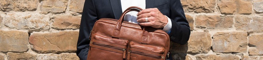Leather men's Briefcase