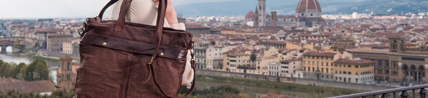 Leather shopper bags very durable - Officina66