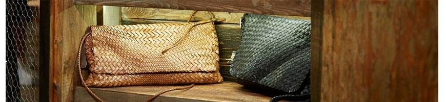 Leather clutch bags unique - Officina66